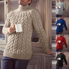 Fashion, long sleeve sweater, Men, knittedwintersweater
