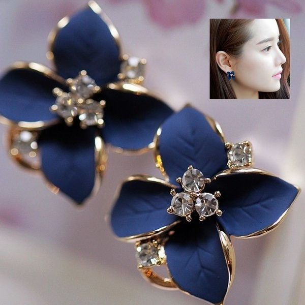 Clover, Fashion, gold, Stud Earring