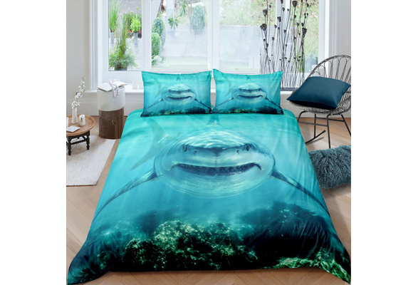 Feelyou 3D Shark Bedding Set for Kids Boys Teens Marine Life Ocean ...