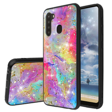 case, rainbow, TPU Case, Bling
