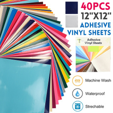 assortedcolorsvinyl, thermaltransfer, silhouette, adhesivesheetroll