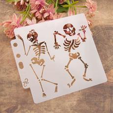 layering, stencil, Skeleton, Dancing