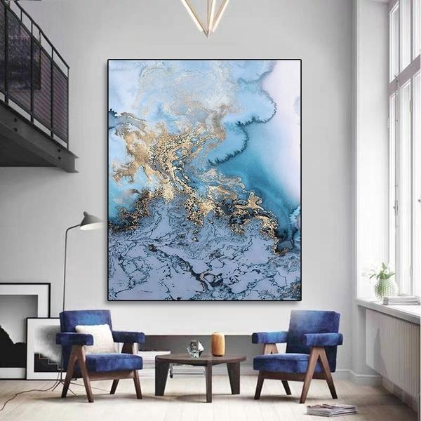 Blues, canvasoilpainting, canvasart, Wall Art