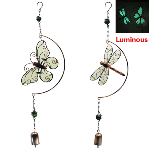 butterfly, dragon fly, belldecoration, ironwindchime