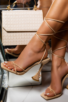 Sandals, Lace, luxemoda, nude