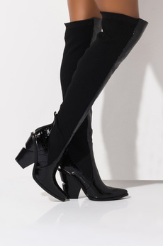 azaleawang, Boots, Women's Fashion, black