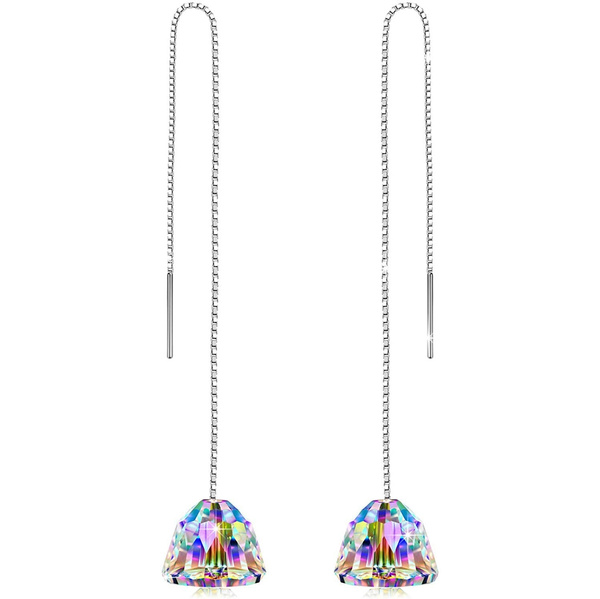 Cubic Zirconia, White Gold, White Gold Earrings, gold