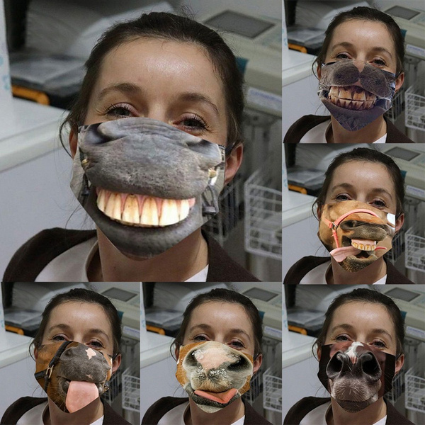 cottonfacemask, cartoonmask, Fashion, funnyfacemask