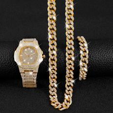 hip hop jewelry, Chain, gold, Bracelet