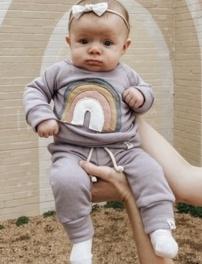 Baby, rainbow, babygirlshirt, ruffle