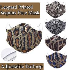 shinyfacemask, diamondfacemask, rhinestonefacemask, Leopard