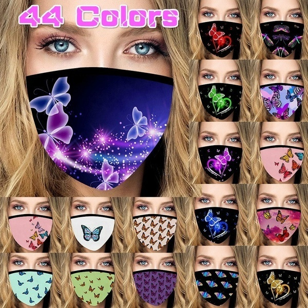 butterflyprint, animefacemask, Outdoor, Cycling