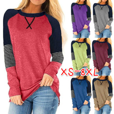 Tops & Tees, Plus Size, Cotton T Shirt, Long Sleeve