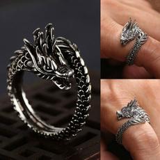 Sterling, Fashion, 925 sterling silver, dragonring