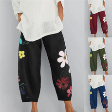 Women Pants, loosecasualpant, elastic waist, Waist