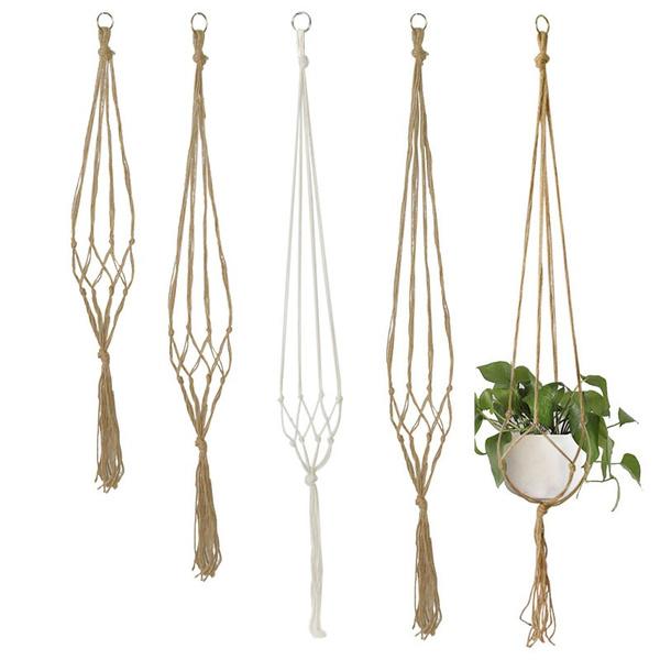 Rope, Plants, hangingbasket, Garden