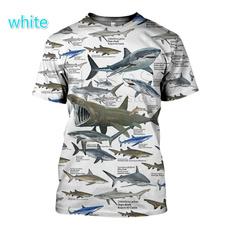 Shark, Shorts, Shirt, Sleeve