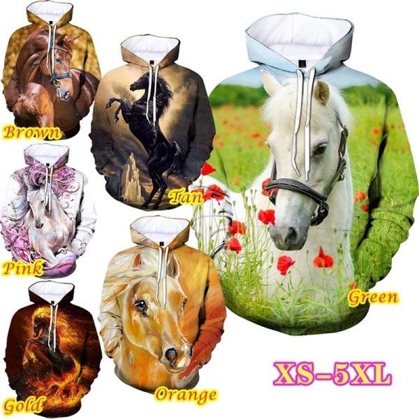 horse, Plus Size, Sweatshirts, unisex
