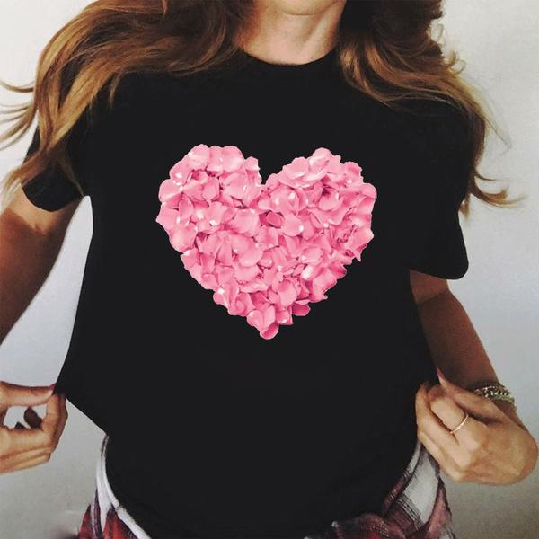 Heart, Fashion, Cotton T Shirt, Summer