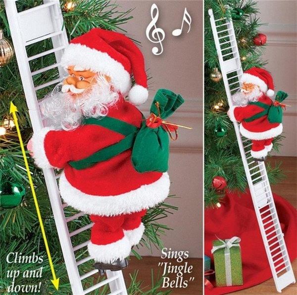 Toy, Christmas, Ornament, electricsantaclau