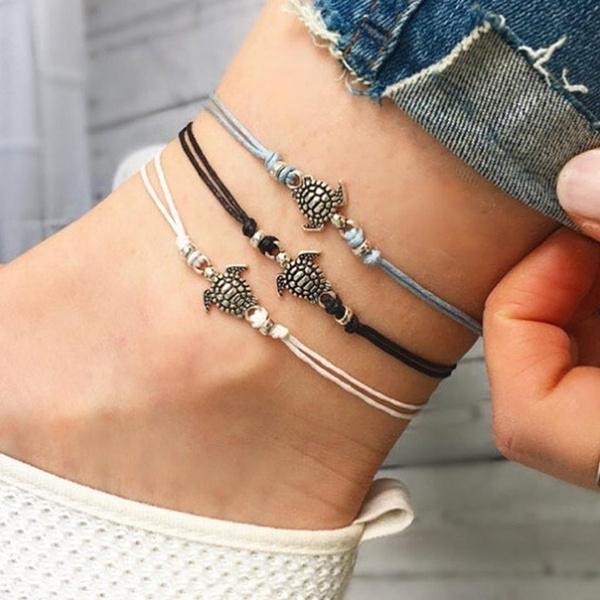 Turtle, ankletsforwomen, Jewelry, Bracelet