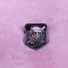 Helmet, shield, Pins, Army