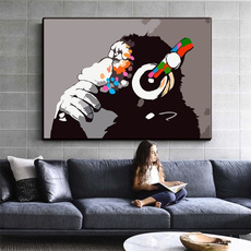 art print, art, Dj, monkey