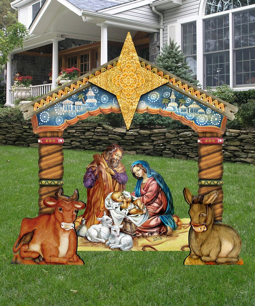 nativity, Lawn, art