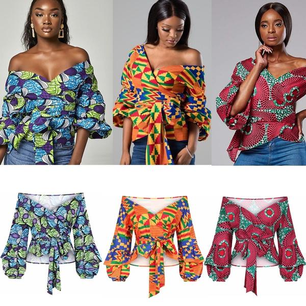 africanstyleshirt, blouse, boatshouldershirt, long sleeve blouse