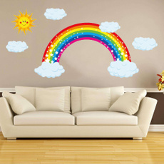 cute, rainbow, Home & Living, Stickers