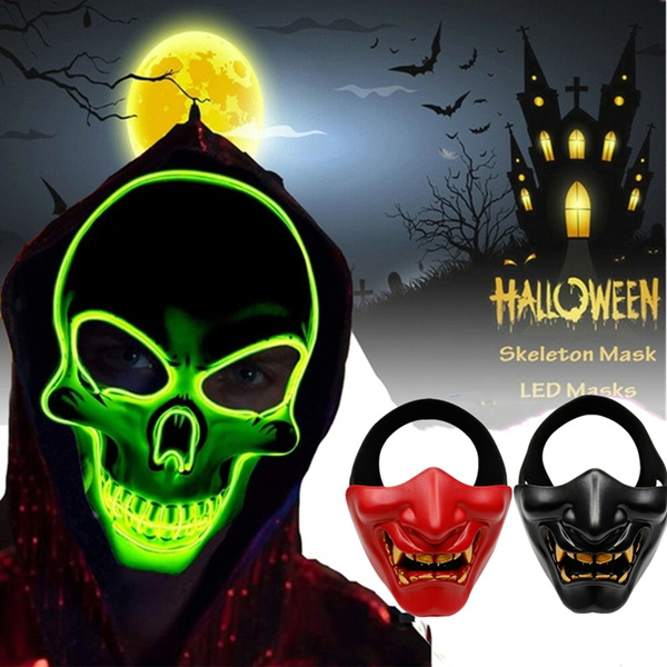 scary, glowingmask, devils, Cosplay
