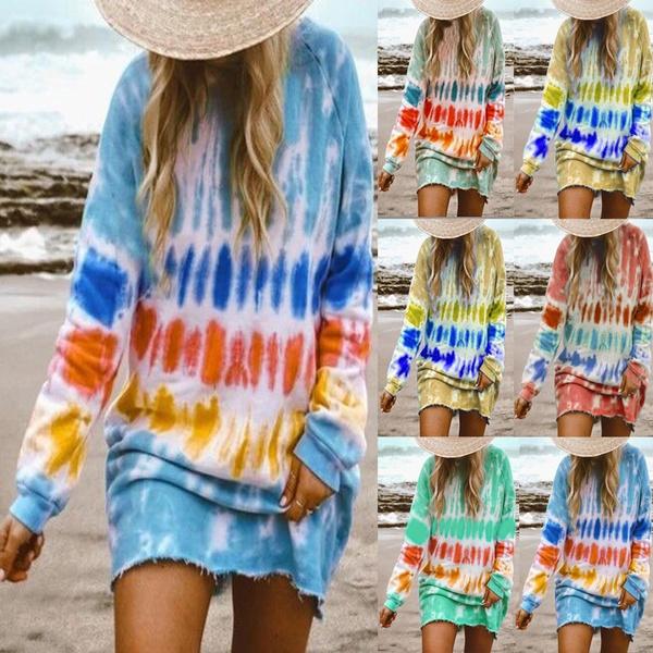 Crewneck Sweatshirt, gradientdres, Fashion, gradientprintgradientprint