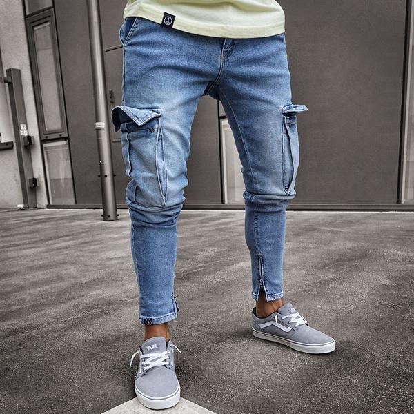 Jeans Stretch Men S Jeans Pencil Pants Jeans For Men Multi Pocket Jeans Mid Rise Jeans Mens Jeans Boyfriend Jeans Pantalones De Hombre Pants For Men Mens Pants Pantaloni Uomo Pantalones 2 Colors Wish