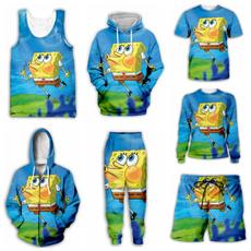 3D hoodies, Vest, Fashion, Sponge Bob