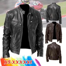 Stand Collar, motorcyclejacket, bikerjacket, Fashion