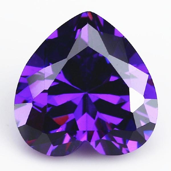 Heart, naturalzircon, Jewelry, heartcutrhinestone