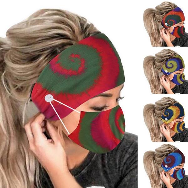 Elastic, Beauty, buttonheadband, printedheadband