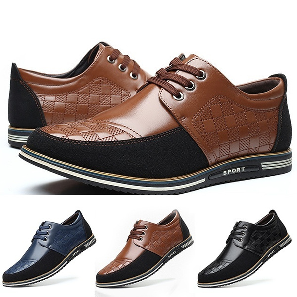 Men Casual Breathable Leather Shoes