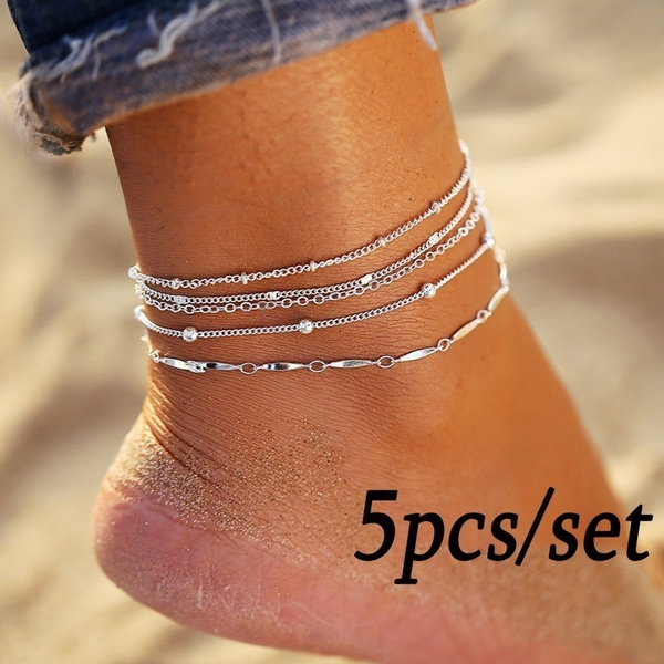 925silveranklet, Anklets, Chain, Simple