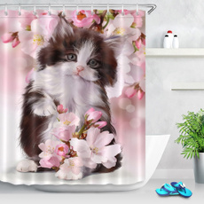 showercurtainswithvalance, pink, Bathroom, Bathroom Accessories
