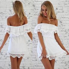 Chic, Summer, Dress, Lace Dress