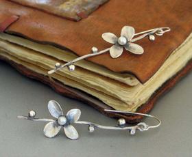 Flowers, Jewelry, sago, Earring