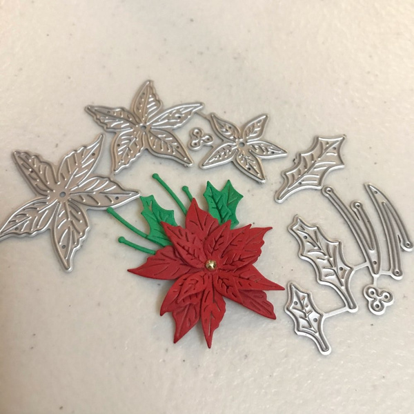 Flowers, Christmas, metalcuttingdie, diycraft