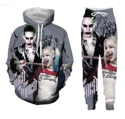 womenjoggerspant, 3d sweatshirt men, harleyquinn, tracksuits sportswear women