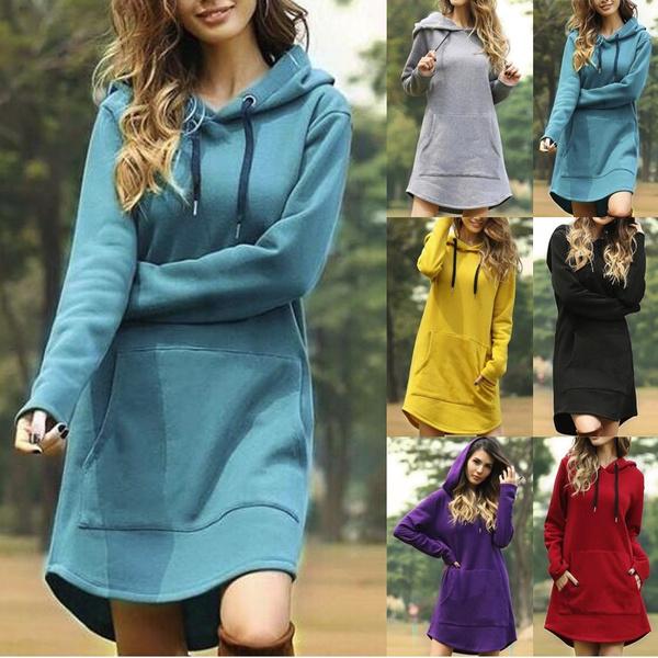 sweatshirt dress, hooded, womens hoodie, Sleeve