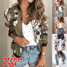 casual coat, Casual Jackets, Plus Size, floraljacket