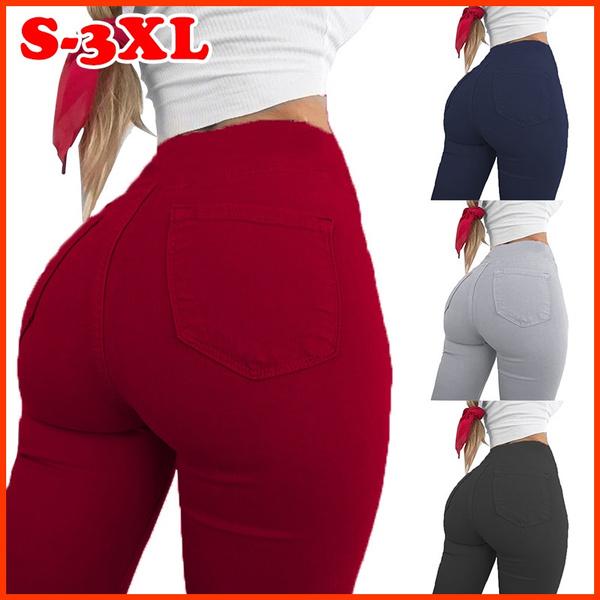 Women Pants, pencil, trousers, high waist