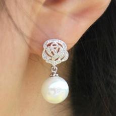 roseearring, Flowers, Jewelry, Pearl Earrings