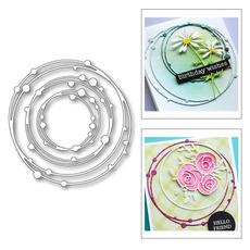 circleframe, stencil, Scrapbooking, Metal