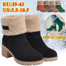 ankle boots, Womens Boots, thickheel, Winter